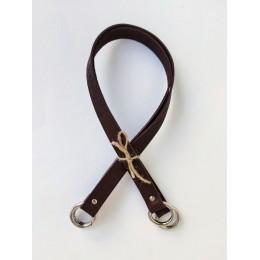 Ручки на кольцах 60см - Темно-коричневый (пара)