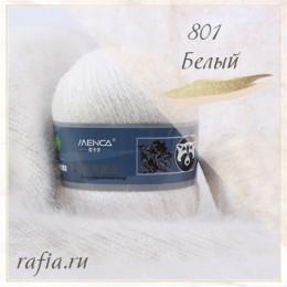 """Пряжа """"Пух норки"""" - 801 Белый"""