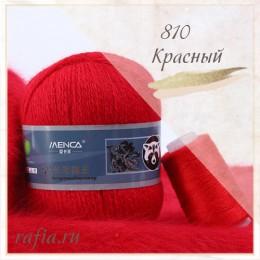"""Пряжа """"Пух норки"""" - 810 Красный"""