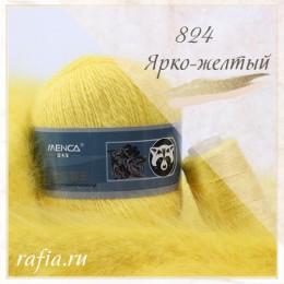 """Пряжа """"Пух норки"""" - 824 Ярко-желтый"""