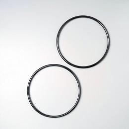 Ручки-кольца металл, d=13.5 см., Темное серебро