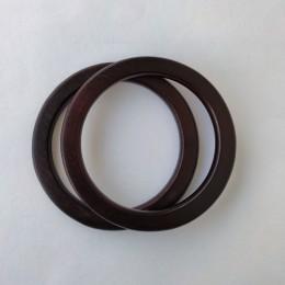 Ручки круглые плоские D=13.5 см., цвет - Мокко