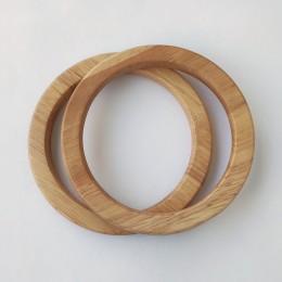 Ручки круглые плоские D=13.5 см., цвет - Натуральный