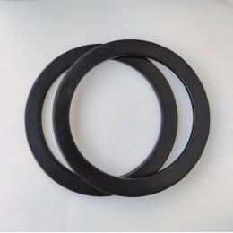Ручки круглые плоские D=19 см., цвет - Черный